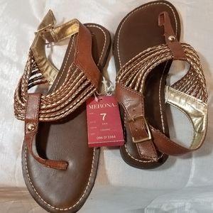 Merona Gold Sandals
